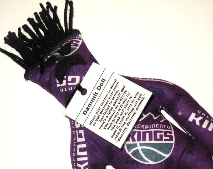 Dammit Doll, Sacramento Kings, basketball stress relief item