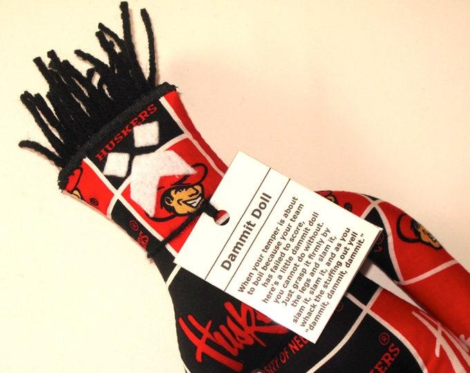 Dammit Doll, University of Nebraska, Classic Square Fabric, stress relief item