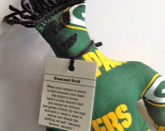 Dammit Doll, Green Bay Packers, stress relief