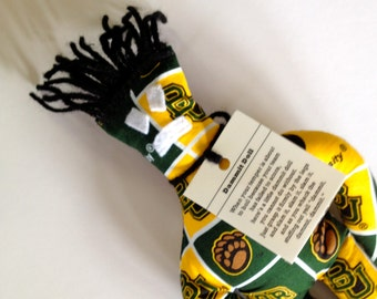 Dammit Doll, Baylor University, Classic Square Design Team Fabric, stress relief item