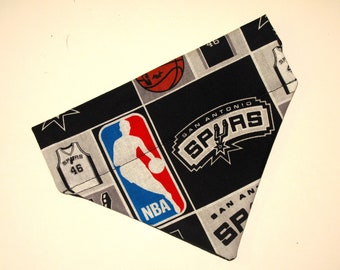 No-Tie, Slip Over Collar Dog Bandana, Spurs (Collar Not Included)