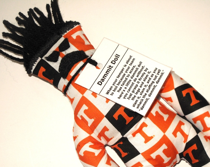 Dammit Doll, Univ. of Tennessee, Logo in Square Fabric,  stress relief item