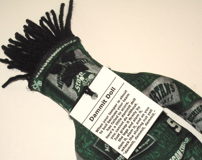 Dammit Doll, Michigan State, Team Fabric, stress relief item