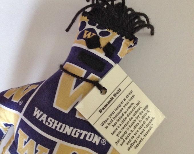 Dammit Doll, University of Washington, Classic Square Design Team Fabric, stress relief item