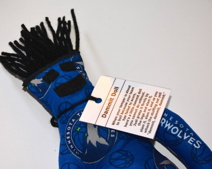 Dammit Doll, Minnesota Timberwolves, basketball stress relief item