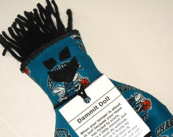 Dammit Doll, Charlotte Hornets, basketball stress relief item