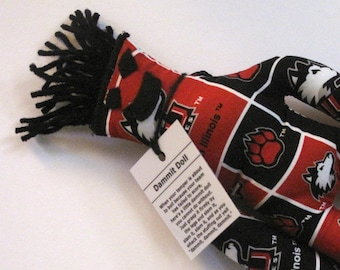 Dammit Doll, Northern Illinois University, Classic Square Fabric, stress relief item