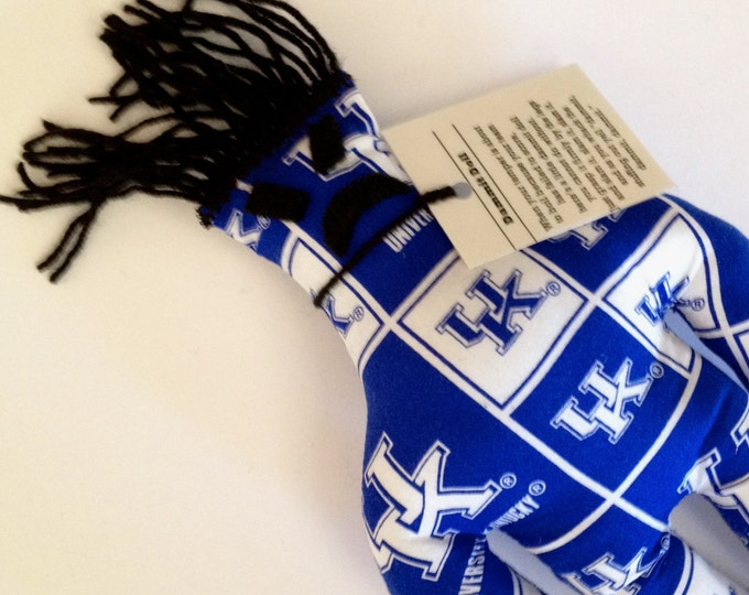 Dammit Doll, University of Kentucky, Classic Square Design Team Fabric, stress relief item