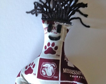 Dammit Doll, Mississippi State University, Classic Square Fabric, stress relief item