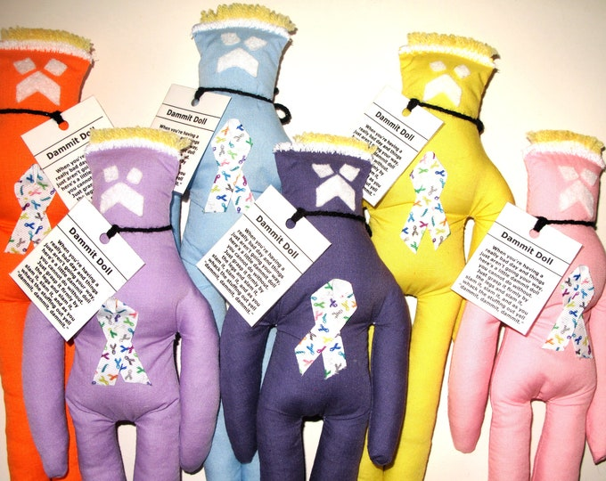 Cancer Dammit Doll, stress relief item