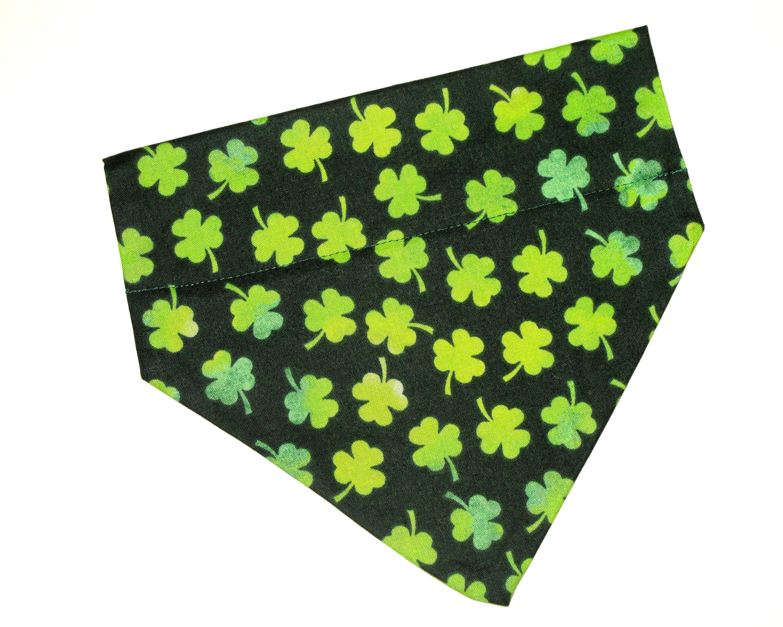 slip on bandana~ tie on bandana ~ snap on bandana Mystery SAINT PATRICKS Dog Bandana Packs