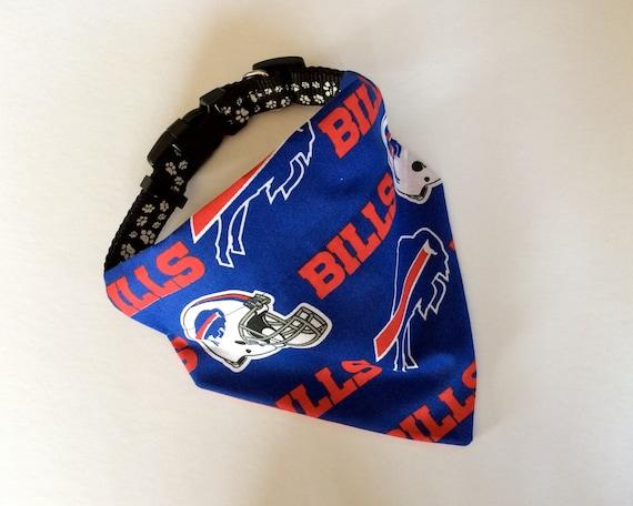 1c7b4068f No-Tie Slip Over Collar Dog Bandana Buffalo Bills team