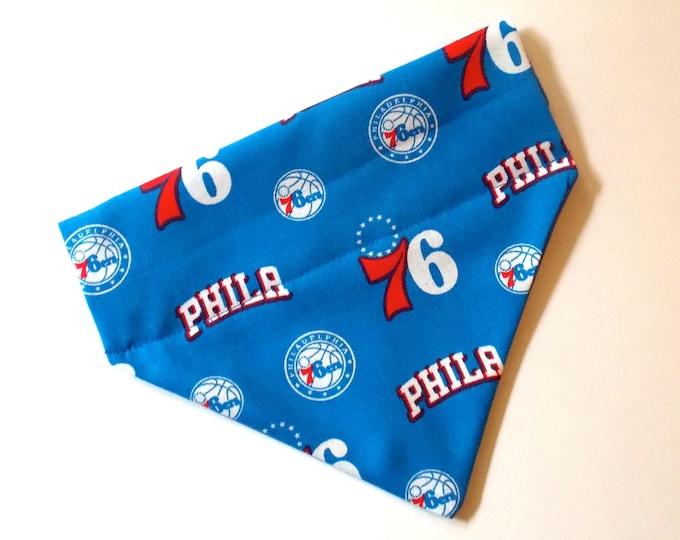 No-Tie, Slip Over Collar Pet Bandana, Philadelphia 76ers (Collar Not Included)