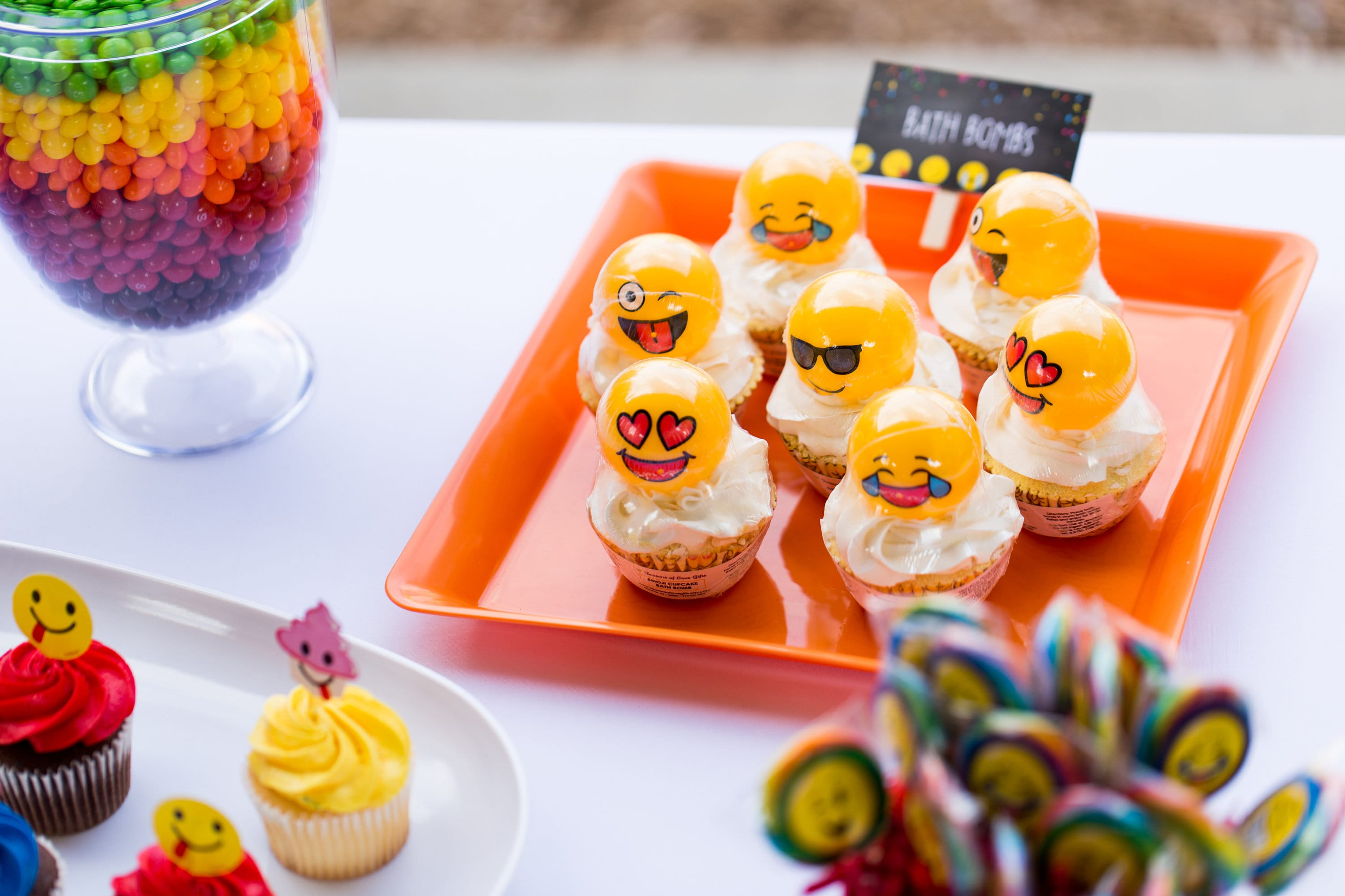 Emoji Birthday Favors Cupcake Bath Bomb Kids Bombs