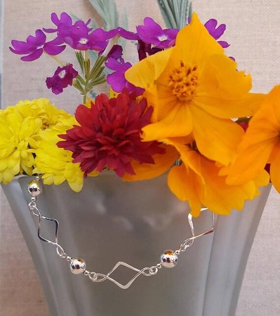 Diamond Links with 6mm beads