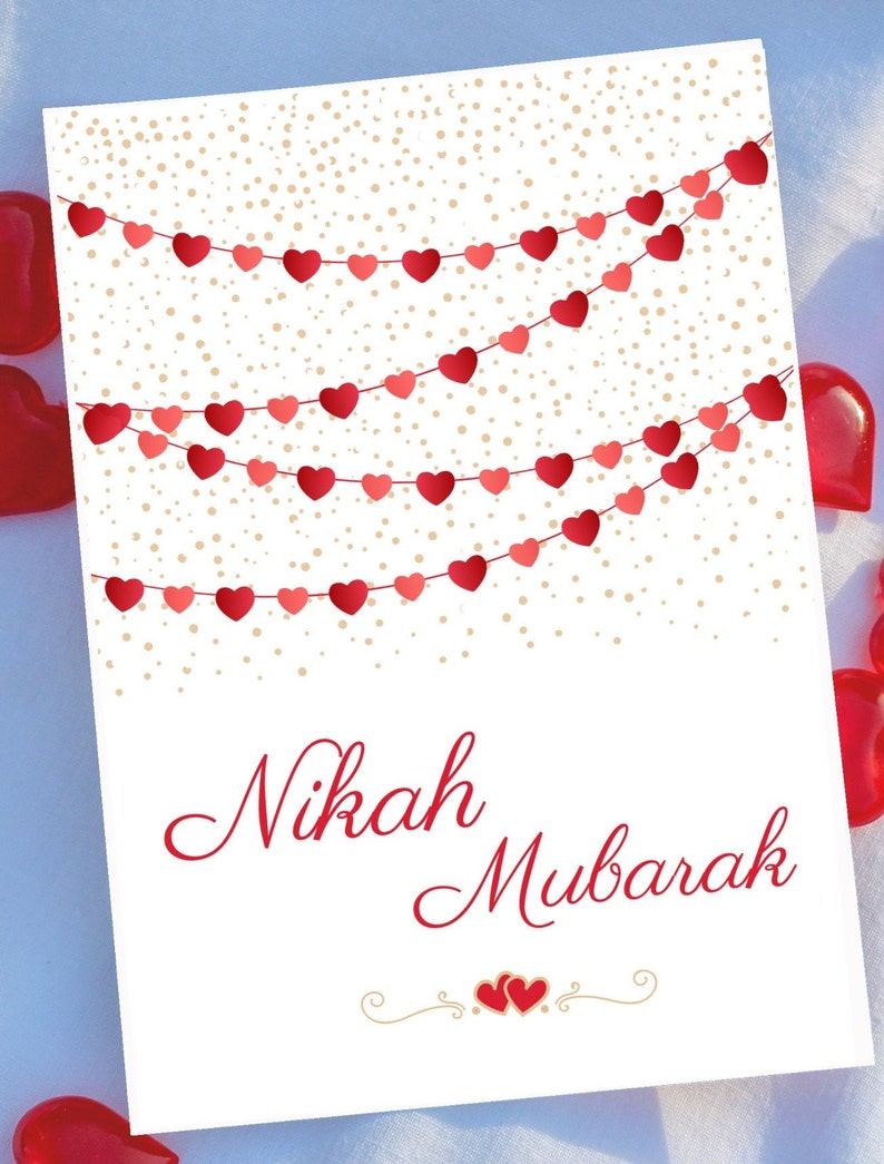 5x7 instant download Islamic Wedding card printable for new Muslim couple wedding greeting card printable gift for muslim couple wedding