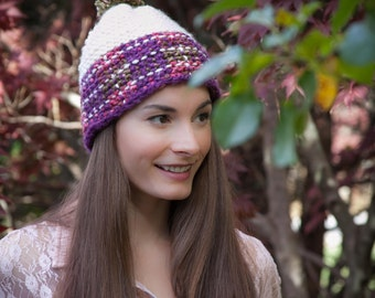 6c2efeb088a Loom Knit Slouchy Beanie Beret PATTERN PATTERN ONLY Ladies