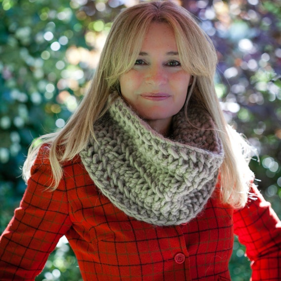 Loom Knit Chunky Lace Infinity Scarf Cowl Pattern Loom Knit