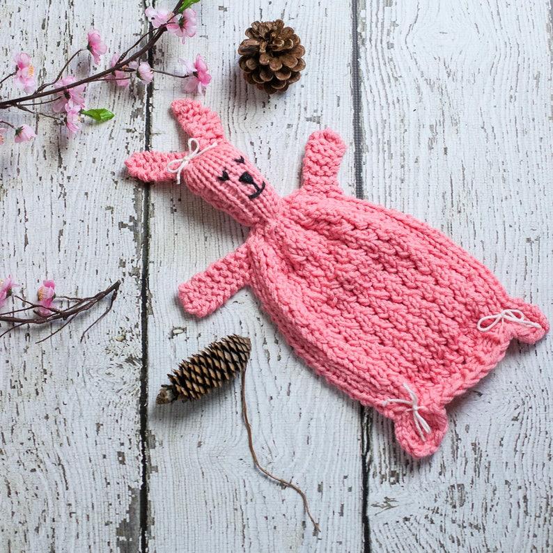 f19576534 Loom Knit Bunny Lovey Pattern, Rabbit Blanket Toy For Baby, PDF Loom  Knitting PATTERN. Great Gift Idea For Newborn!