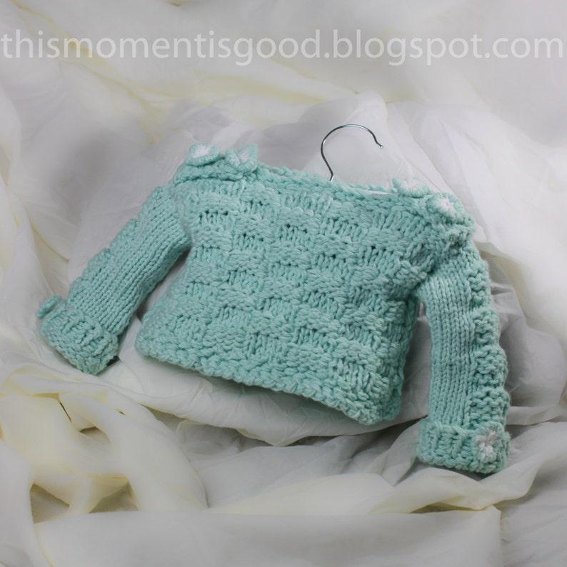 Loom Knit Baby Sweater Pattern Checkerboard Pattern On Etsy