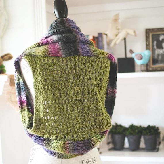 Loom Knit Vest Pattern Shrug Style Vest With Pretty Eyelet Etsy