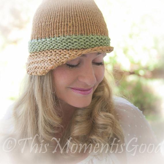 Loom Knit Folded Brim Cloche Hat Pattern Vintage Style Hat Etsy