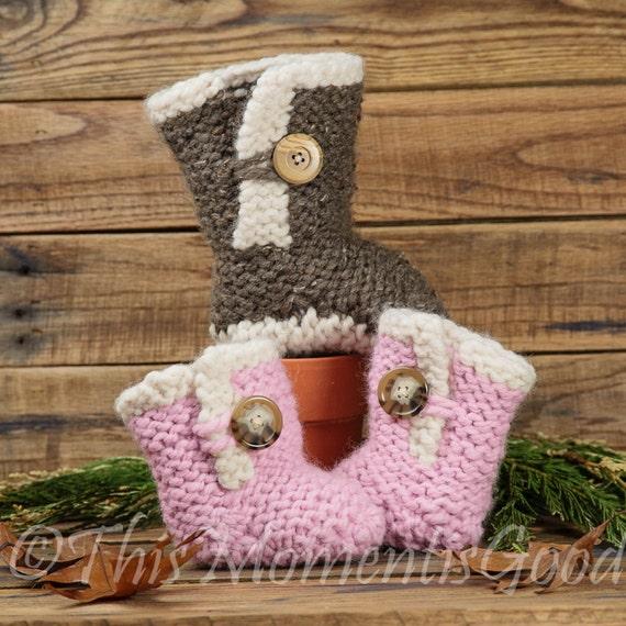 Loom Knit Baby Boots Pattern Loom Knit Baby Shoe Pattern 2 Etsy