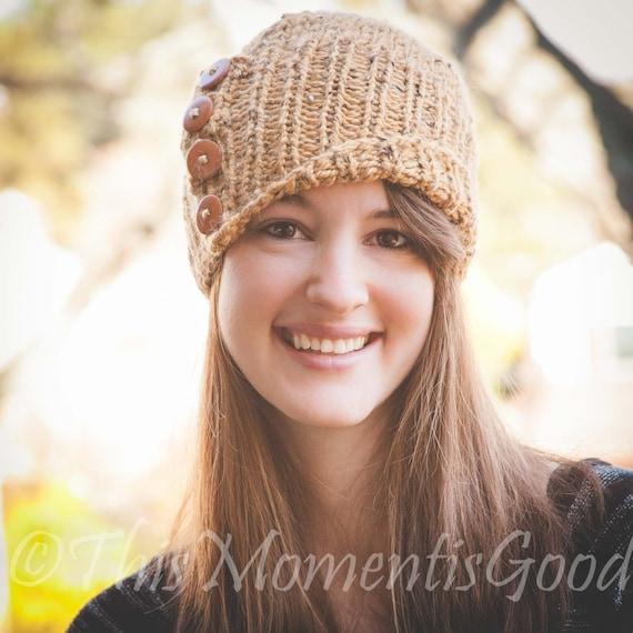 Loom Knit Tweed Cloche Hat Pattern The Amberlyn Cloche Hat Etsy