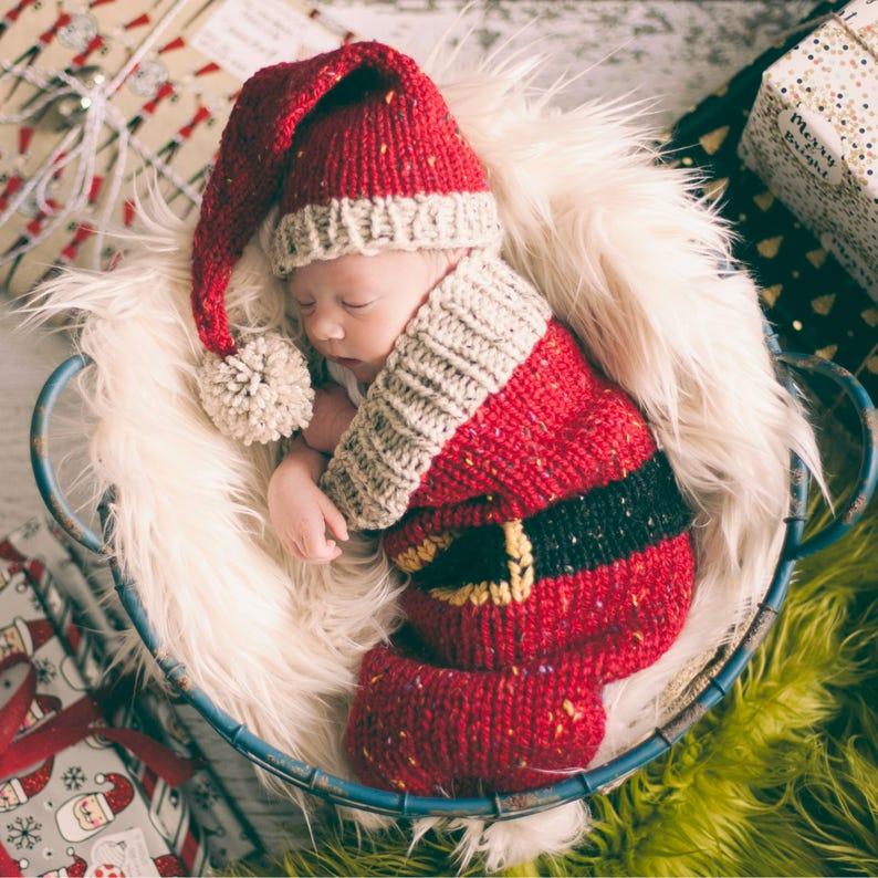 f034b7966ea Loom Knit Santa Christmas Cocoon and Santa Hat Pattern. Make