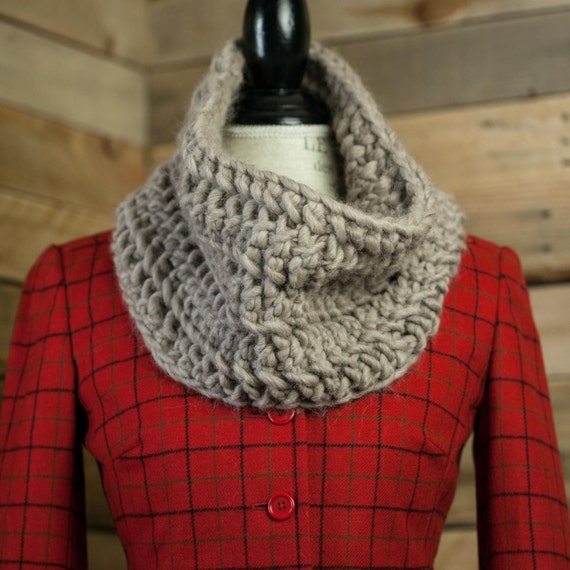 Loom Knit Chunky Lace Infinity Scarf Cowl Pattern Loom Knit Etsy