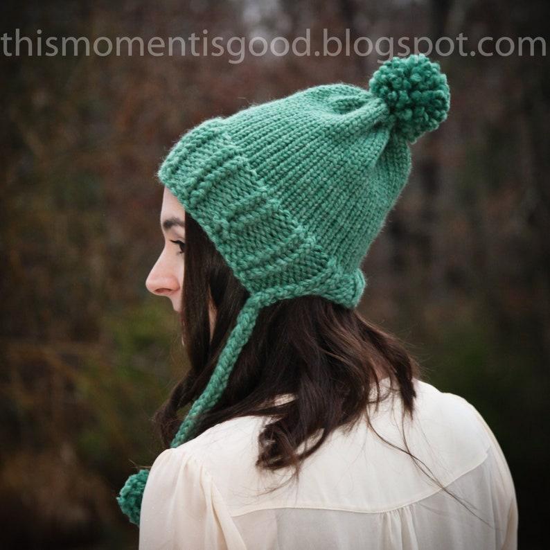 a4fbd64106a Loom Knit Split Brim Hat PATTERN. Loom Knit Earflap hat