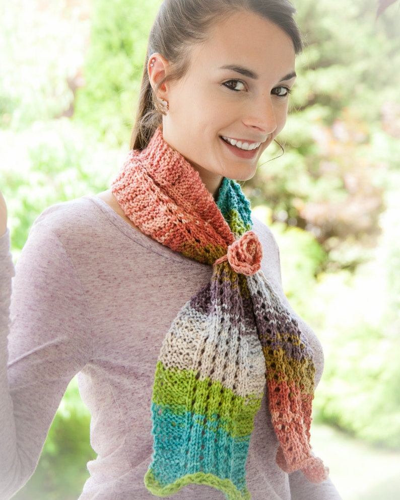 Loom Knit Scarf PATTERN. Painted Ripples Scarf PATTERN ...