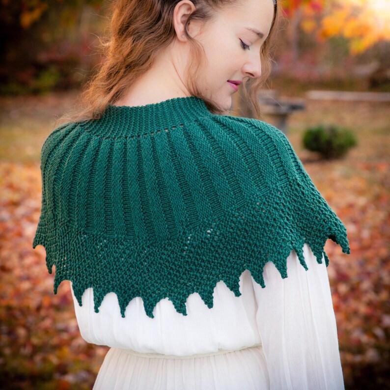 151ff4a7eae Loom knit cape pattern capelet shawl poncho wrap