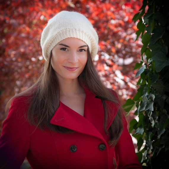 Loom Knit Beret Pattern Winter Trendy Hat Tam 3 Sizes Etsy