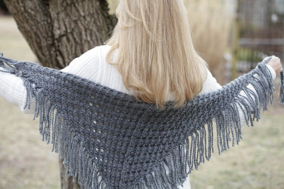 Loom Knit Eyelet Triangle Shawl Pattern Lace Scarf Loom Etsy