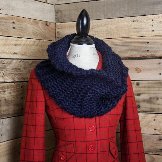 Loom Knit Cowl PATTERN Sassenach Cowl loom knit chunky cowl