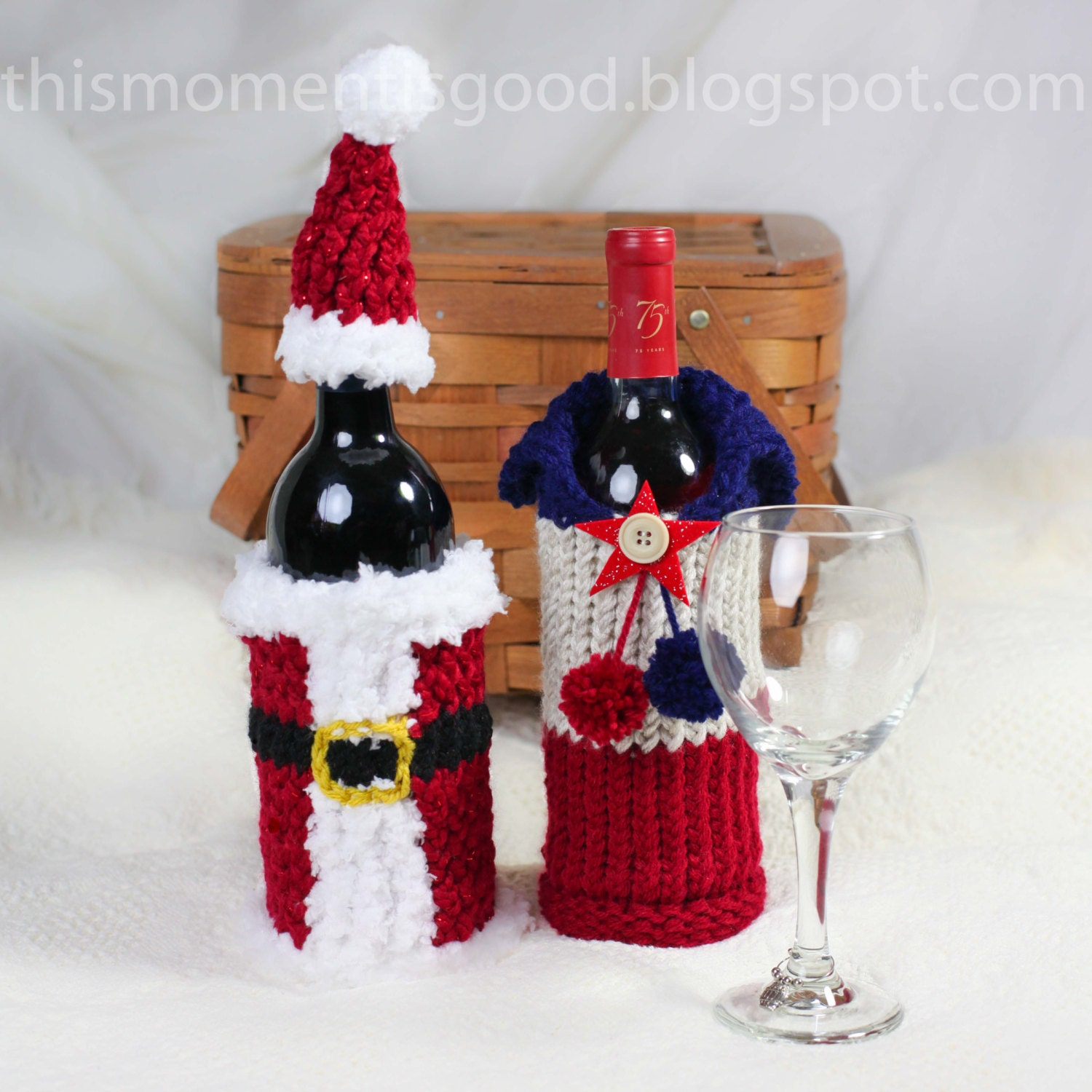 Wine Bottle Covers, Loom Knitting Pattern! Six Unique Holiday Wine ...