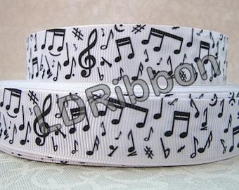 "7/8"" Music Notes Grosgrain Ribbon"