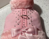 Pink jacket harness with rhinestones