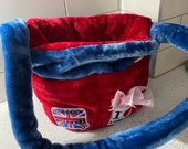 London UK themed Luxury faux fur Chihuahua Pet Carrier