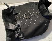 Luxury Black pet jacket harness