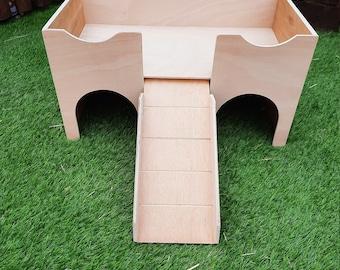 MY UPDATED DESIGN Guinea Pig Castle shelter hide.