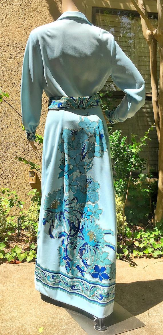 Alfred Shaheen Dress Vintage 70s Designer Alfred … - image 4