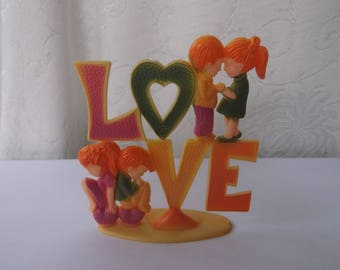 Vintage 1970 Cake Topper, Love 1970s Cake Topper, So Cute, Counter Culture, Free Love, Disco Era, Groovy Cake Topper by Wilton