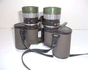 Vintage Night Vision Adapted Binoculars by Siam Cat Optics, Focal, Zoom 7X to 15X 35, Field of View at 7X, Powerful, Great Quality