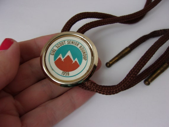 Vintage 1950s Girl Scout Tie, 1959 Girl Scout Bolo