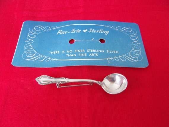 Vintage Miniature Spoon Pin Brooch