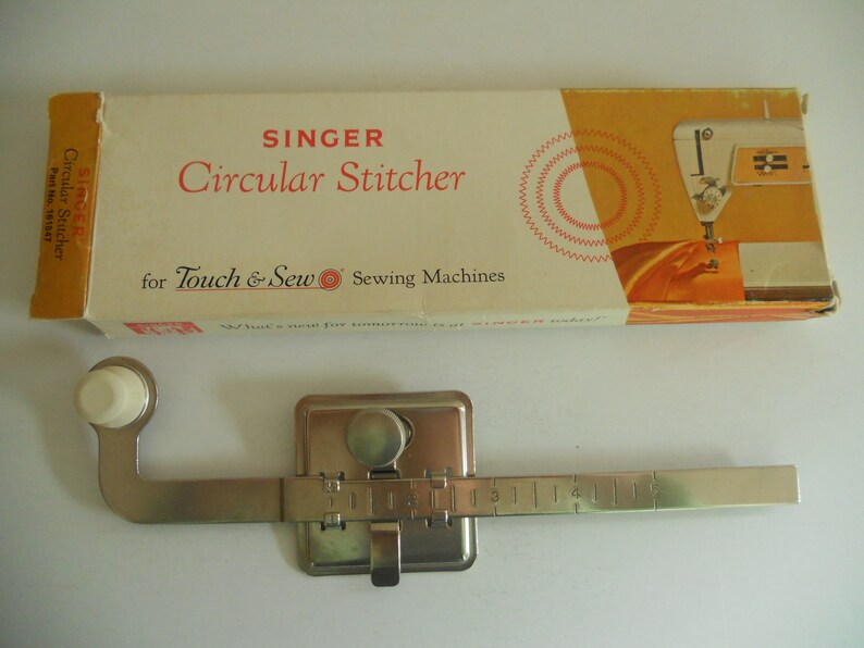 Vintage Singer Circular Stitcher Attachment for Touch /& Go Sewing Machines NOS