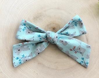 Mignon Koala hair bow clip