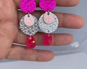 Handmade Mixed Media Earrings